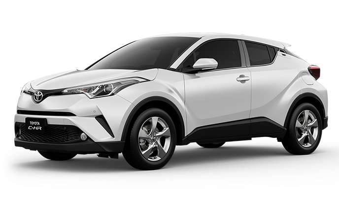 Toyota All New C-HR White Pearl Crystal Shine