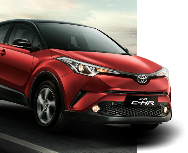 Toyota All New C-HR Red Mica With Sporty Black Roof
